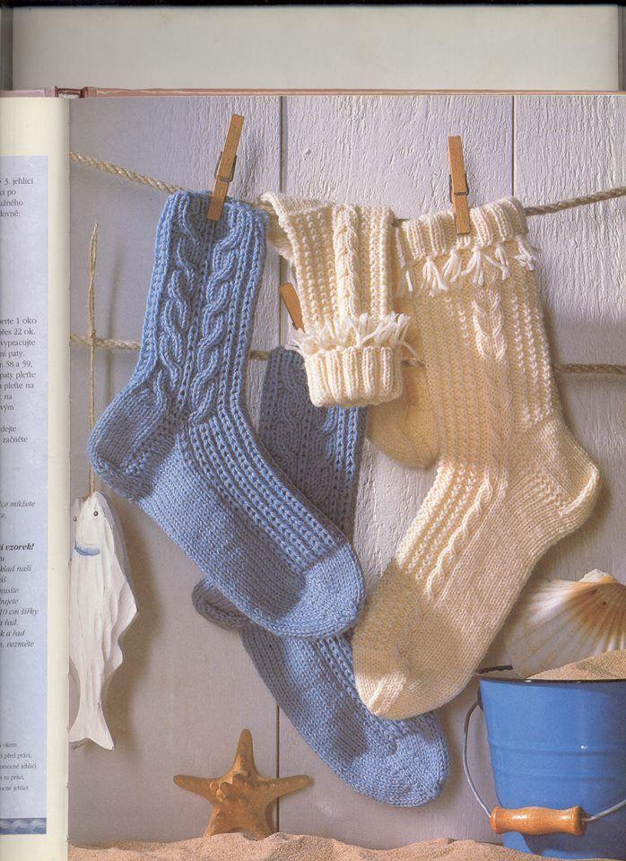 Hebké ponožky+návod