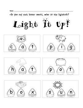 Discount 7 2 only phonics cvc worksheets christmas lights