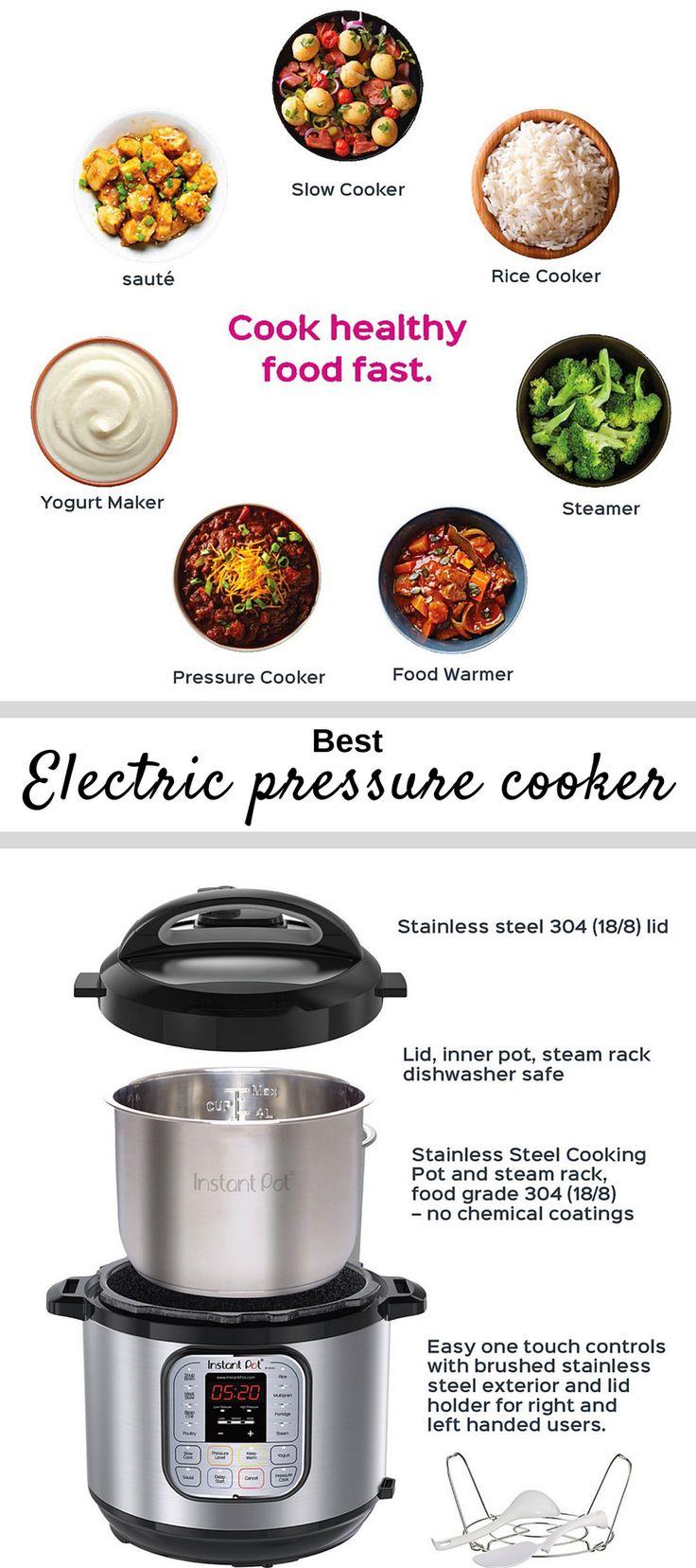 Best electric pressure cooker. With this electric pressure cooker you can cook healthy food fast and eat quicker! #cooker #presurecooker #cookin #cookingtools