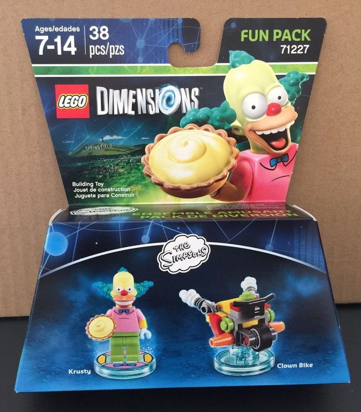 Krusty & Clown Bike. 38 Pieces - Krusty and Clown Bike. The Simpsons. video game enthusiast for the video game Lego Dimensions. I LOVE GOOD STUFF! New Factory Sealed in Box.   eBay!