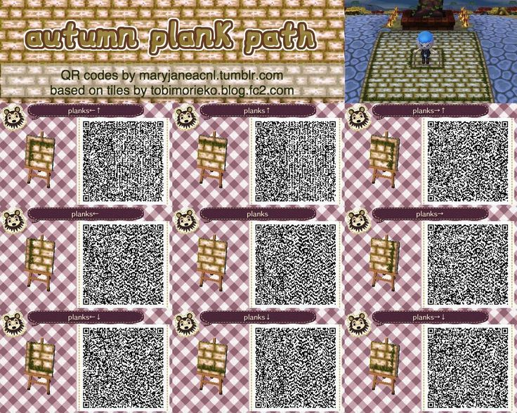 Image Result For Acnl Flower Path Qr Acnl Animal Crossing Qr