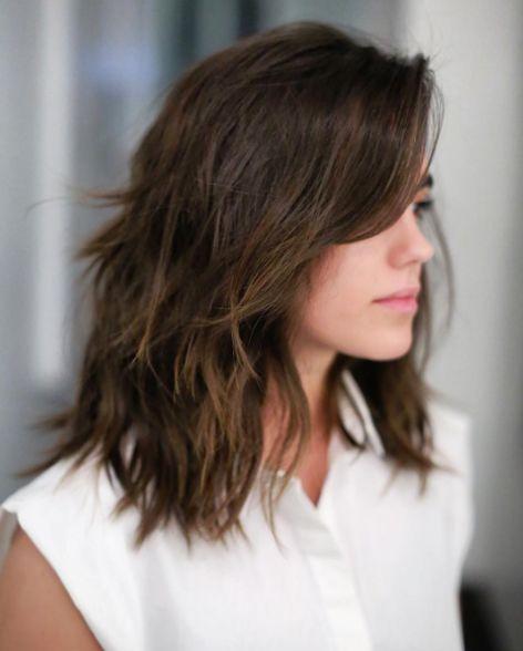 El look del momento para las que no quieren el pelo ni muy corto, ni muy largo.