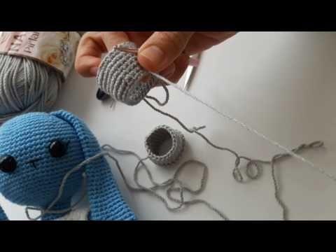 Örgü oyuncak uzun kulak şort paça yapımı - YouTube