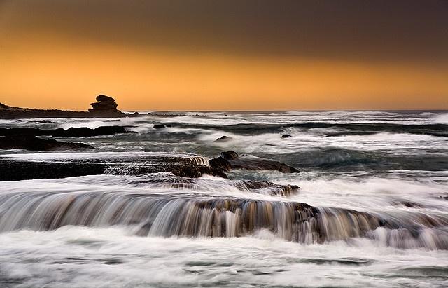 Untamed Coastline The rugged coastline of Nahoon Nature Reserve in East London, South Africa.