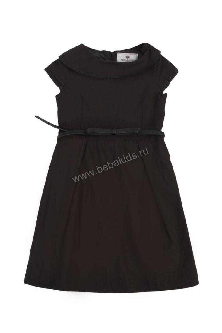 """Платье """"Классика с шитьем"""" для девочки 28626-002 серый Noble People"""