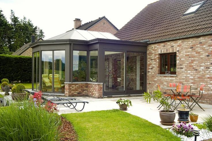 33 best v randas bow window images on pinterest conservatories bay windows and house extensions - Extension maison normande ...