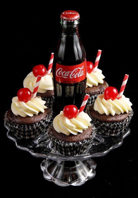 Cherry Coca Cola Cupcakes