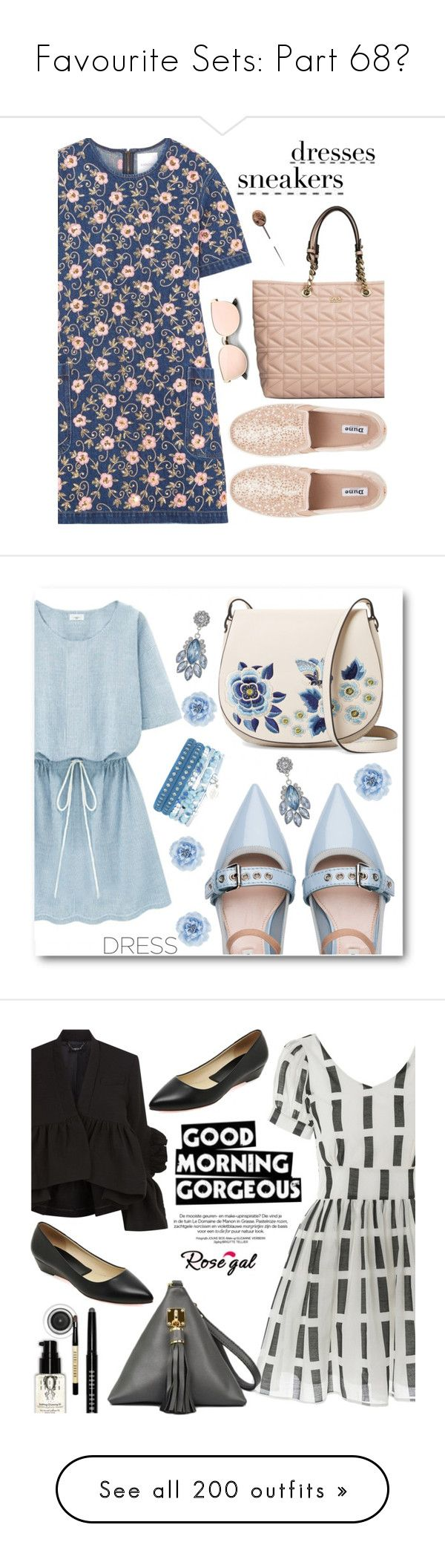 """""""Favourite Sets: Part 68❣"""" by moon-and-starss ❤ liked on Polyvore featuring Karl Lagerfeld, Ashish, womensFashion, SNEAKERSANDDRESSES, Miu Miu, French Connection, Monsoon, dress, dreamydresses and Rachel Comey"""