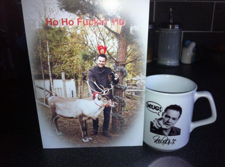 Danny Dyer mug  Christmas card