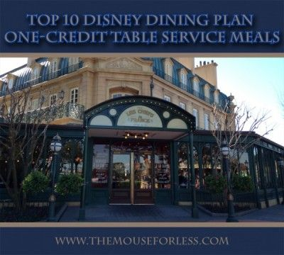 Top 10 disney dining plan one credit table service meals for Disney dining plan t rex