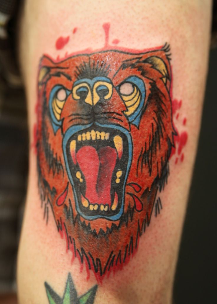 Traditional Bear Tattoo by Black Apple Studios www ...