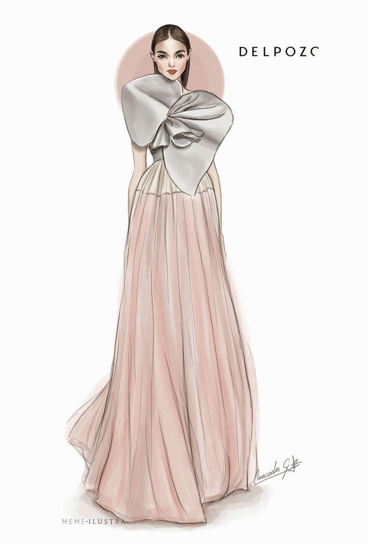 Dibujando señoritas de piernas largas: New York Fashion Week. DEL POZO.