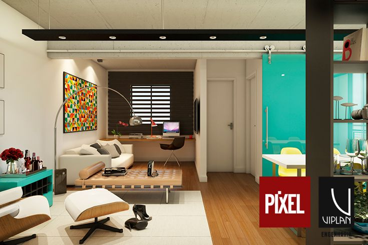 Opção de sala integrada com Home Theater - Pixel