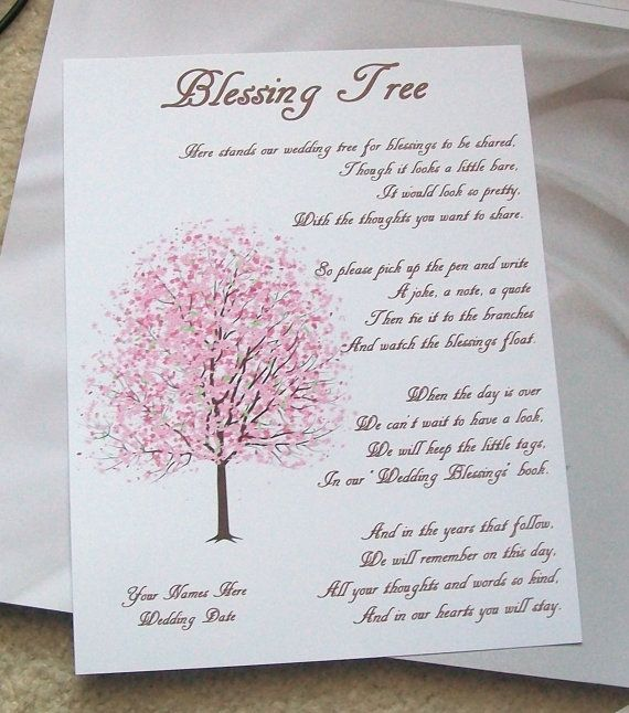 Wishing Tree Tags  Instructions Sign  Cherry by paperpixie on Etsy, $6.00