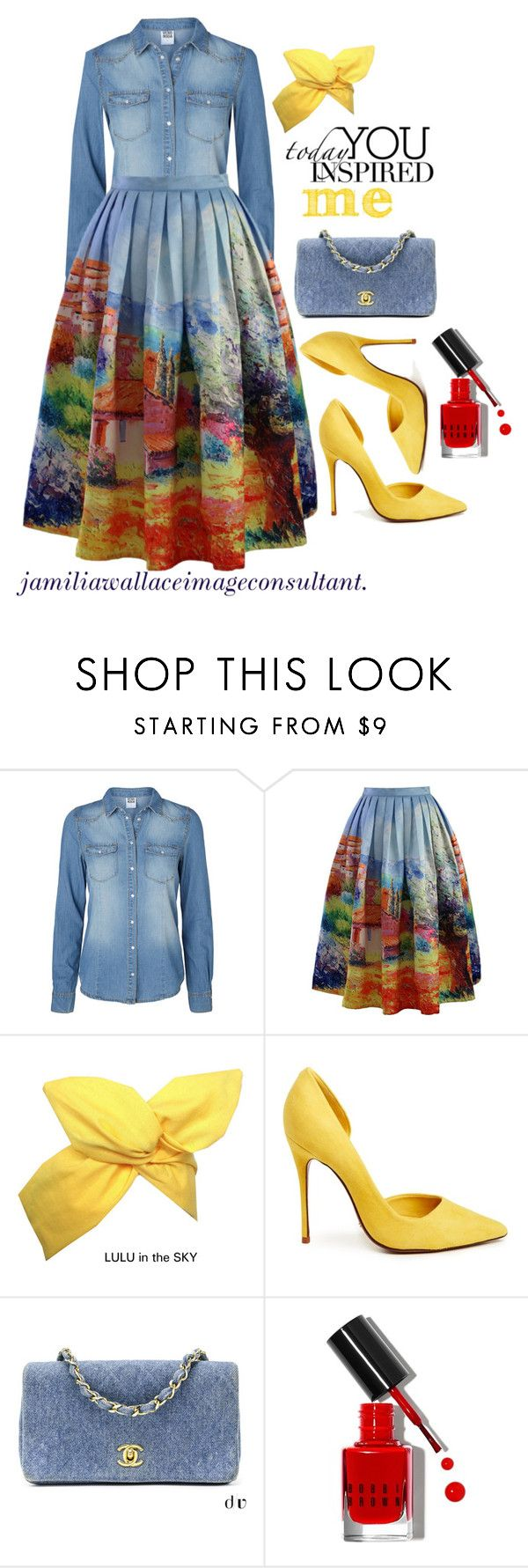 """""""Ideal Image"""" by jamilia-wallace ❤ liked on Polyvore featuring Vero Moda, Chicwish, Schutz, Chanel and Bobbi Brown Cosmetics"""