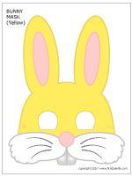 Printable Yellow Bunny Mask