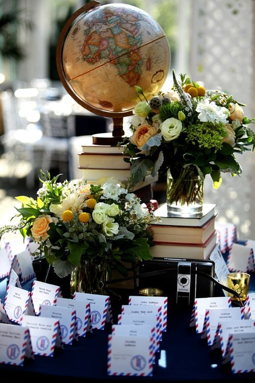Vintage book themed wedding.
