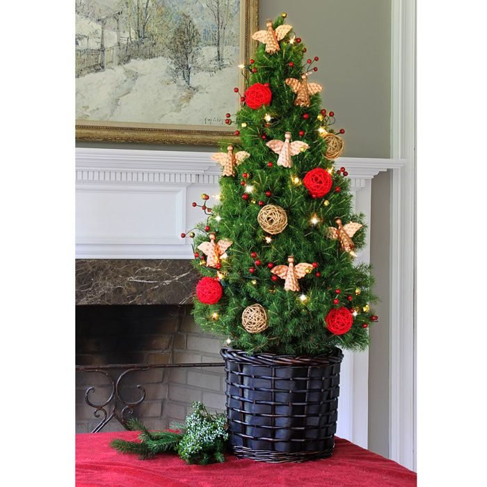 Live Pre-Decorated Angel Christmas Tree | Christmas- Table ...