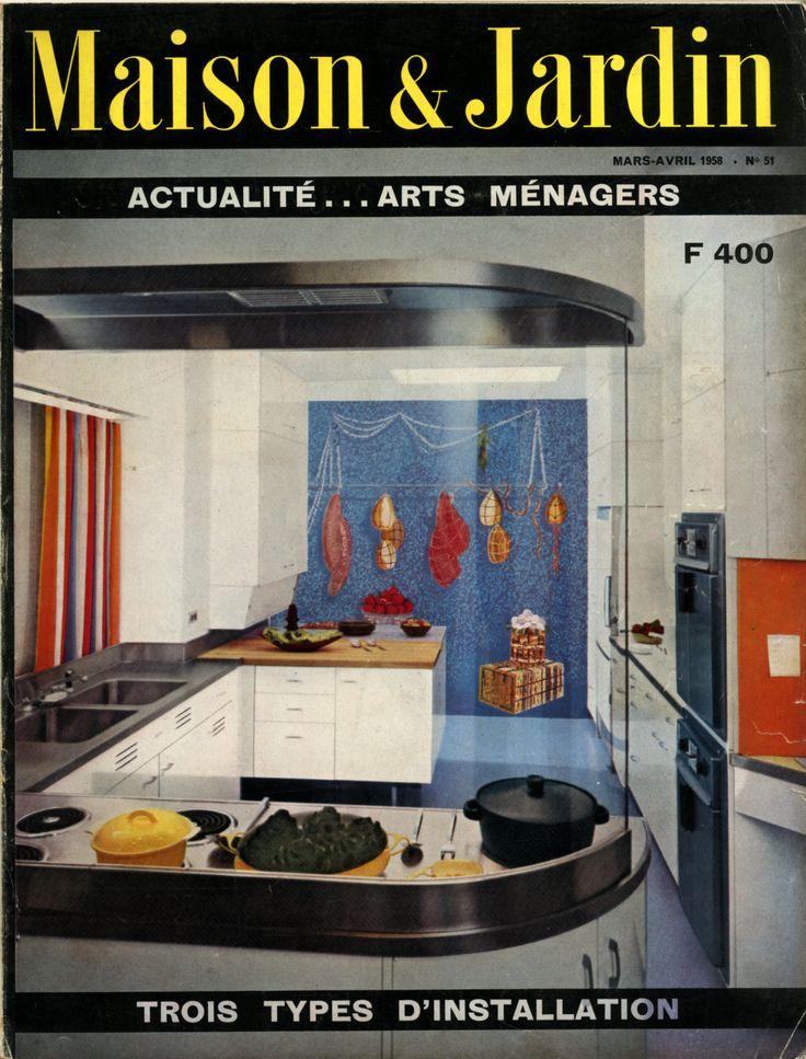 17 meilleures images propos de cuisines vintage sur for Disposition cuisine ouverte