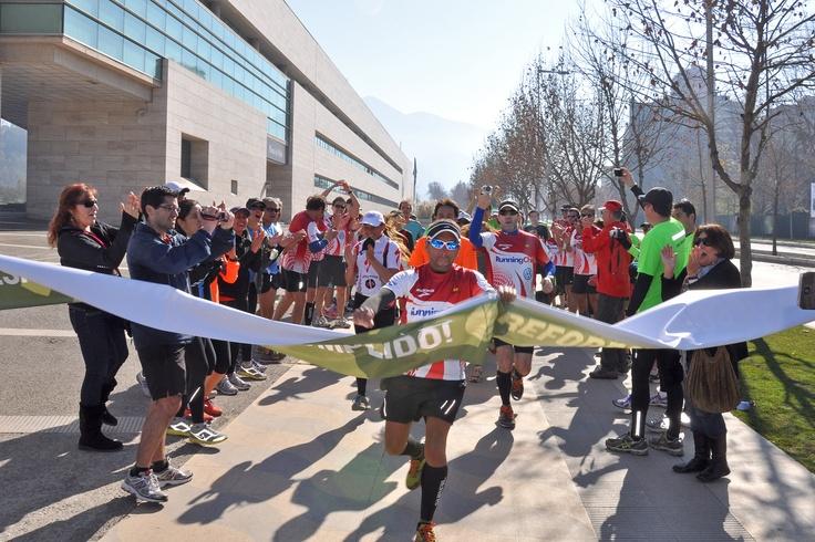 Matias Anguita cumple su desafío de 40 maratones en 40 días