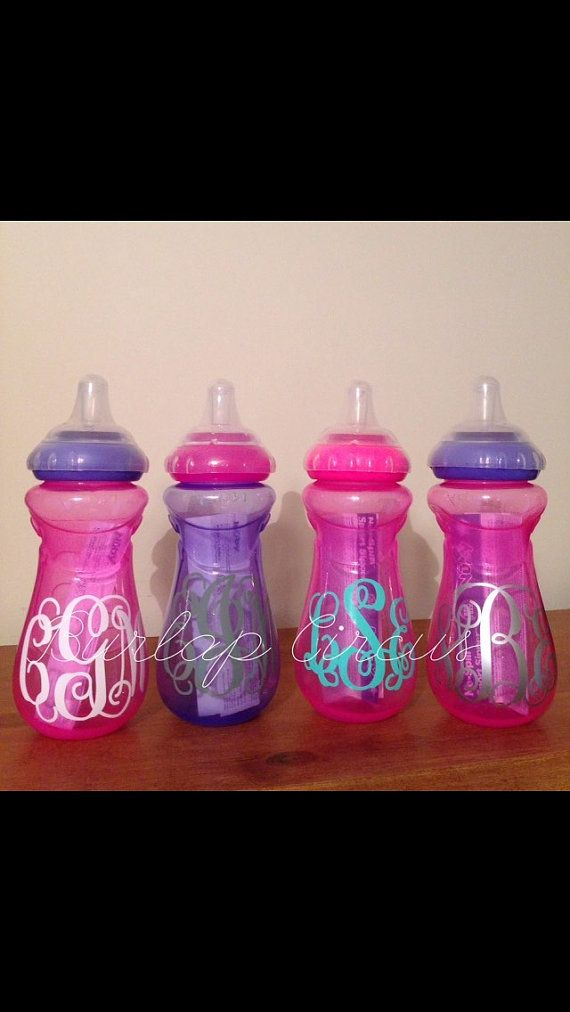 Personalized sippy cup by BurlapCircus on Etsy