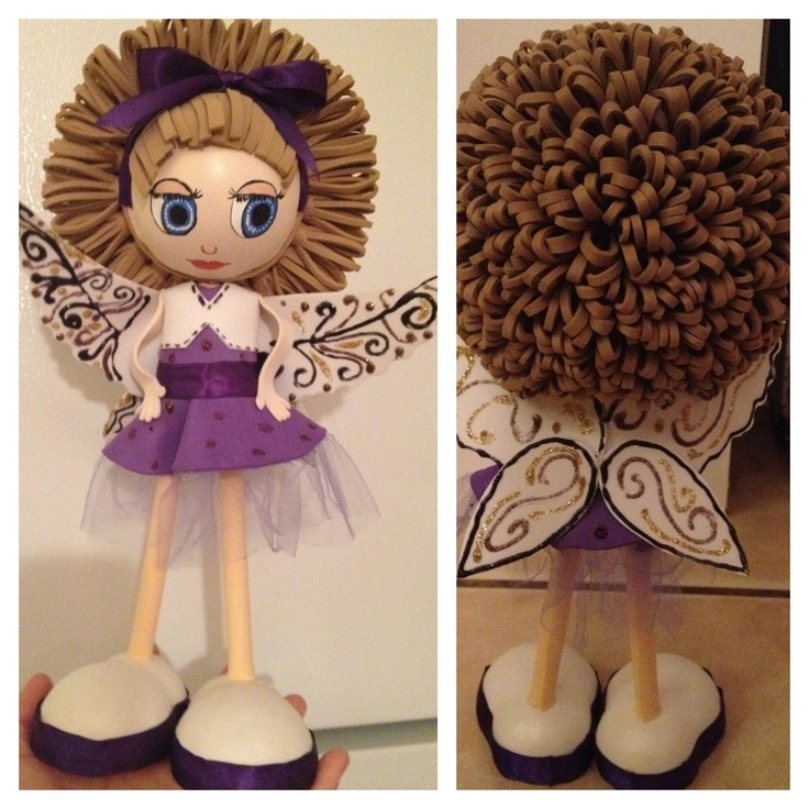 awesome Fofucha! Check out her hair isnt she a cutie??Perfect decoration for any girls room.see more at www.fofuchas.org