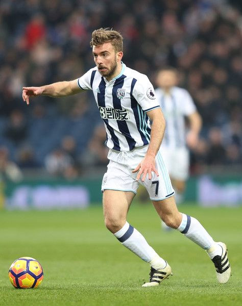 James Morrison of West Bromwich Albion in action during the Premier League match between West Bromwich Albion and Sunderland at The Hawthorns on January 21, 2017 in West Bromwich, England.