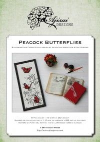 PEACOCK butterflies - ajisaidesigns