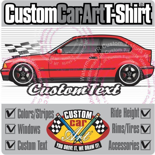 Custom Art T-Shirt for E36 91-1999 BMW 316i 318ti 318tds 323ti hatchback Compact #GildanHeavyCotton #PersonalizedTee