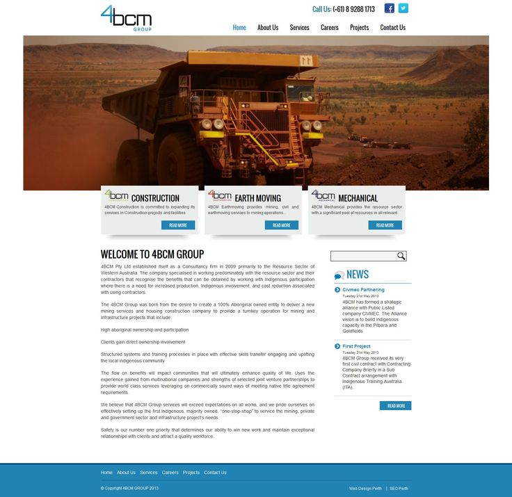 4bcm Group Web Design by Star 3 Media