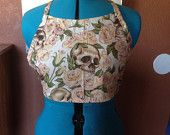 Skull and Flowers Crop Top