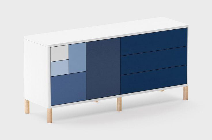 Комод SAGA ARI - дизайнерский комод, тумба. Хранение в гостиной.Скандинавский, современный стиль.