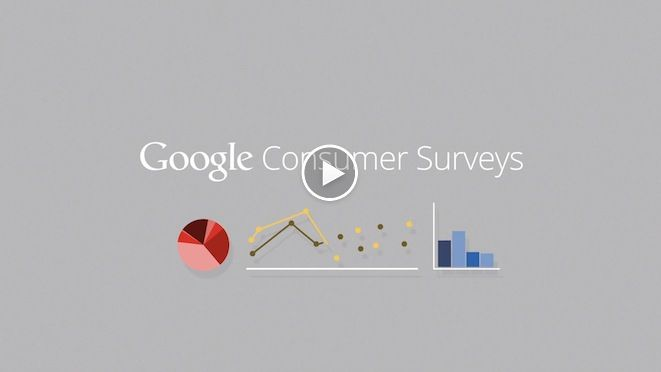 Google Consumer Surveys;  Custom market research made easy
