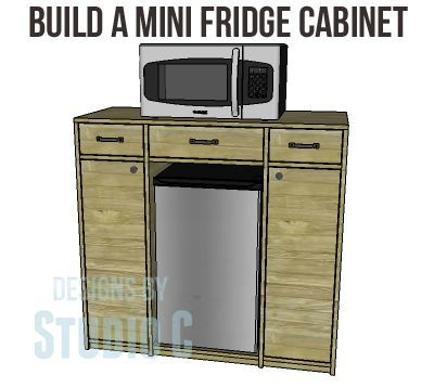 DIY Mini Fridge Cabinet Plans Perfect For A Dorm Room Or A Family Room! Part 51