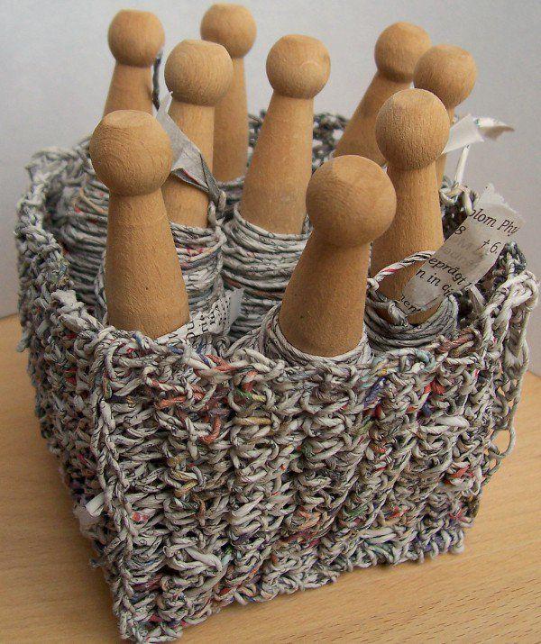 Papierschnur aus Zeitungen herstellen ... zum Häkeln, Stricken, Verpacken etc.