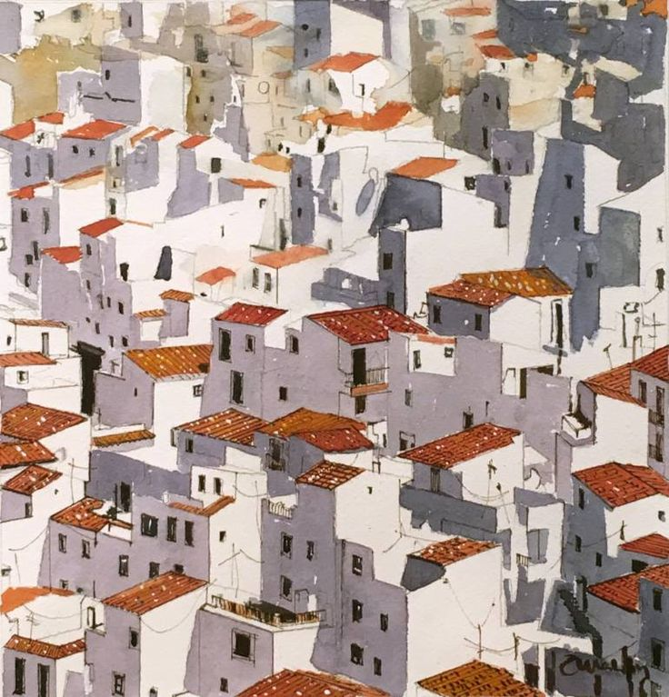 "Saatchi Art Artist Carlos Martín; Painting, ""Casares - Málaga - Spain"" #art"