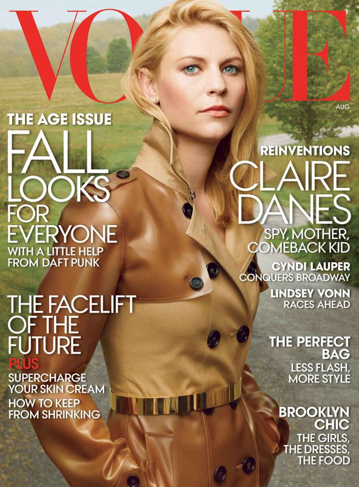 Claire Danes was always Angela Chase to us--until she become Carrie Mathison on Showtime's brilliant show Homeland.  For its August cover story, Vogue seemed to have some trouble differentiating between the actress and the character as well.
