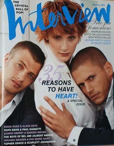 Wentworth Miller - Interview Magazine [United Kingdom] (February 2005)