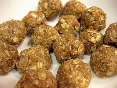 Try a no-bake peanut butter ball as a post-workout snack, rather than one of those pre-packaged energy bars! - these are on the must try list! Great idea to supplement breakfast after morning workout
