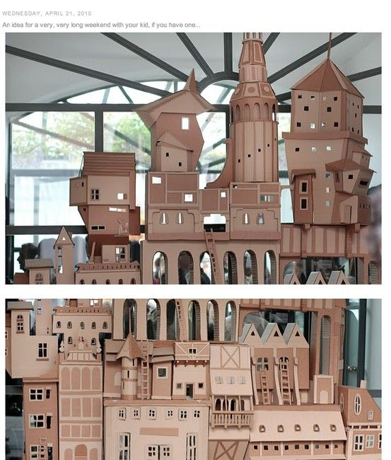 Cardboard House Buildings Palace Paper House Ideas