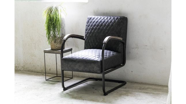 Fauteuil Presley zwart kunstleder | PTMD Collection | 674778