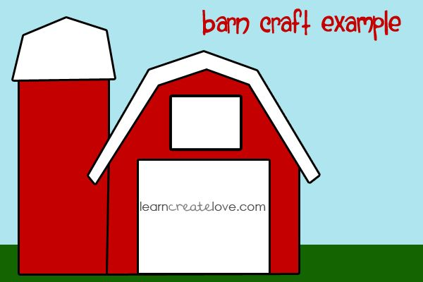 Printable Barn Craft  We did this barn as our craft to go along with Old McDonald Had a Farm!