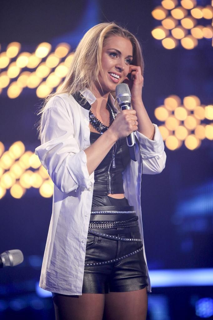 Aneta Sablik performs during the rehearsal of the 3rd Deutschland sucht den Superstar