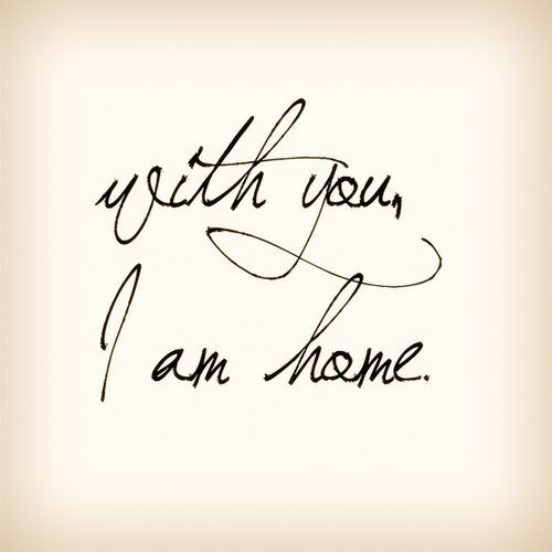 With you, David, I am Home <3