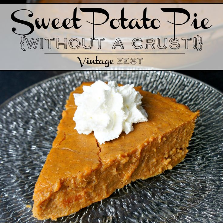 Sweet Potato Pie (without a crust!) on The Episodic Eater