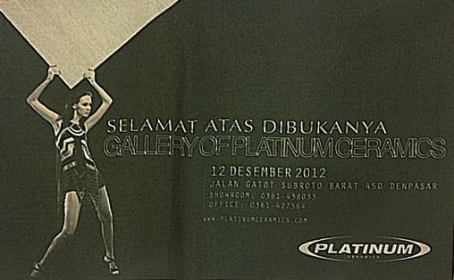 Opening of Platinum Gallery at Bali  12-12-2012 display on Bali Post