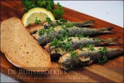Gebakken verse Sardines met citroen en oregano