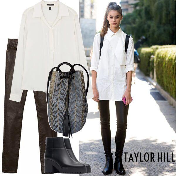 La super modelo sabe también como vestirse en los días casuales para asistir a la universidad o caminar por las calles de nueva york con total comodidad y estilo.