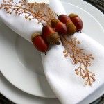 Décoration de table sur le thème de l'automne