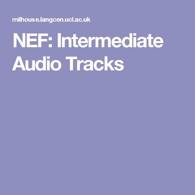 NEF: Intermediate Audio Tracks